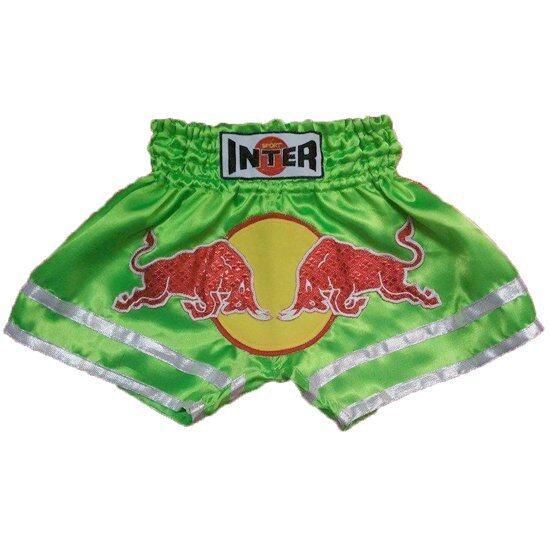 Baby inter กางเกงติดวัวกระทิง ขอบขาขาวสองเส้น (สีเขียว)