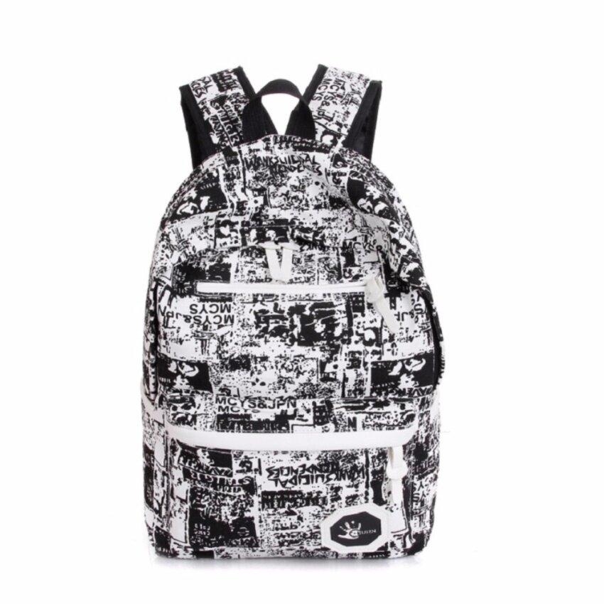 Bag Fashion กระเป๋าเป้ สะพายหลังผู้ชาย แนวเท่ๆ รุ่น122 (สีดำ)