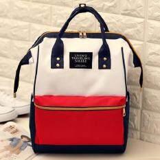 Bag Fashion กระเป๋าเป้สะพายหลัง กระเป๋าแฟชั่น รุ่น034 (สีขาวแดง)