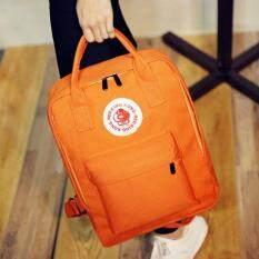 Bag Fashion กระเป๋าเป้สะพายหลังสตรี พร้อมหูหิ้ว รุ่น776 (สีส้ม)