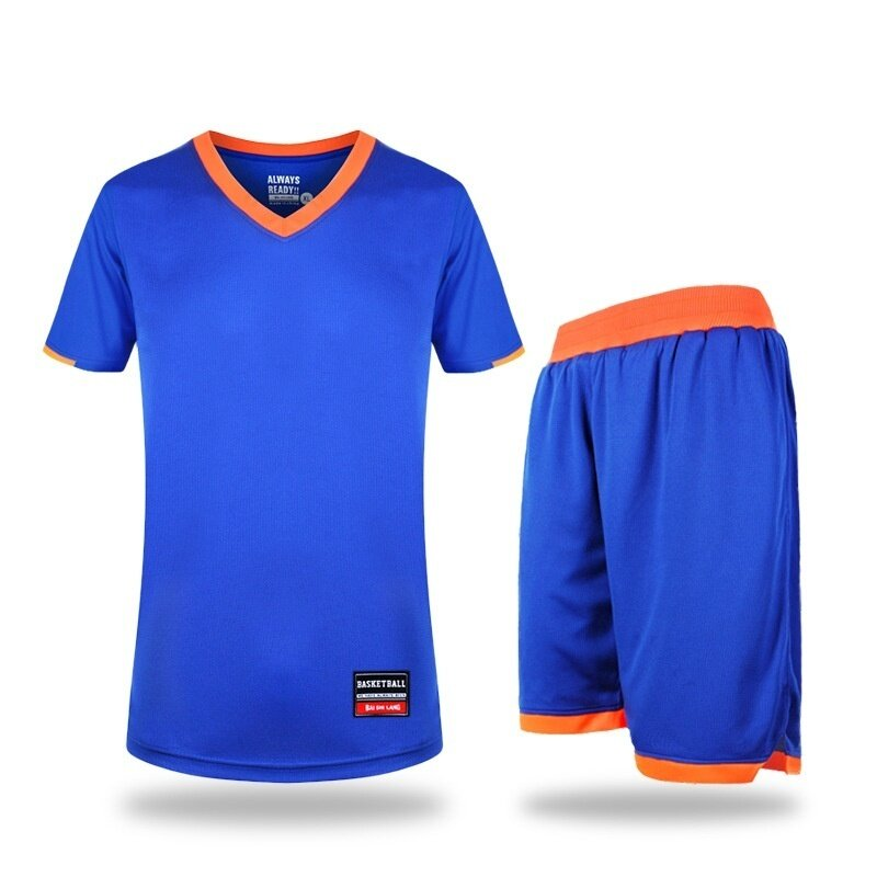 Basketball suit suit running suit male summer large size pocket empty version of single layer breathable ( blue) - intl