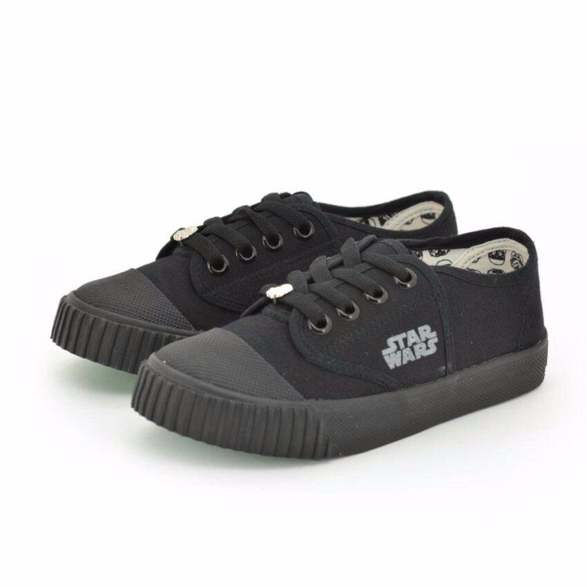 Bata Disney รองเท้านักเรียนผ้าใบ สีดำ ปั๊มสตาร์วอร์ รหัส 4296753