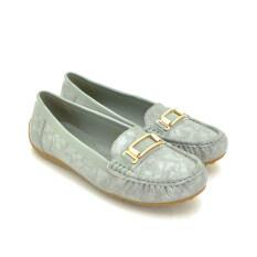 BATA รองเท้าแฟชั่นผู้หญิงคัชชูส้นเตี้ย LADIES'CASUAL MOCCASINE สีเทา รหัส 5512021
