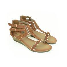 BATA รองเท้าแฟชั่นผู้หญิงส้นแบนแบบรัดส้น LADIES FLATS SANDAL CONTEMP สีน้ำตาล รหัส 5614311