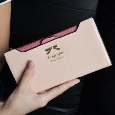 Bogesi กระเป๋าสตางค์ ใส่บัตรผู้หญิงหนังแท้ใบยาว รุ่น B055-2 (สีชมพูอ่อน) ราคา 399 บาท(-69%)