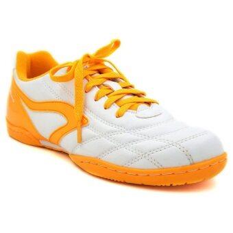 Breaker รองเท้ากีฬา รองเท้าฟุตซอล เบรกเกอร์ Breaker BK-0808 BRAVO ขาวส้ม