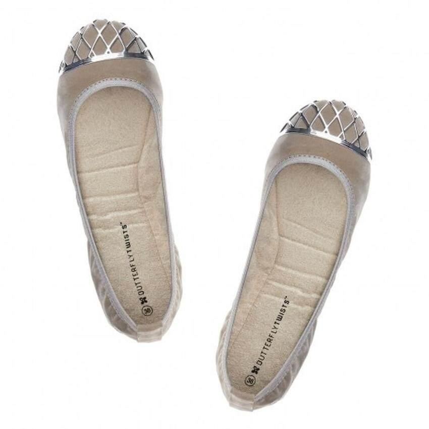 Butterfly Twists รองเท้าสตรี รุ่น Miss Zara สี Taupe