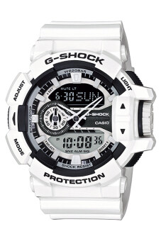 Casio G-Shock Mens White Resin Strap Watch GA-400-7A