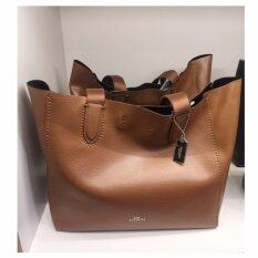 COACH DERBY TOTE IN PEBBLE LEATHER (COACH f58660) image