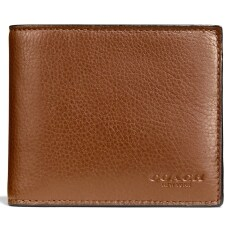 Coach กระเป๋าสตางค์ COACH F74991 COMPACT ID WALLET IN SPORT CALF LEATHER (CWH)
