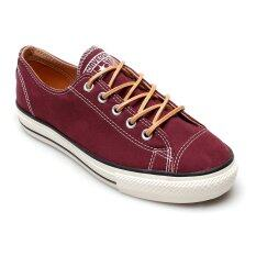 Converse รองเท้าผ้าใบ All Star Hi Line Peached Canvas Ox รุ่น 12100314C (Deep Bordeaux) image