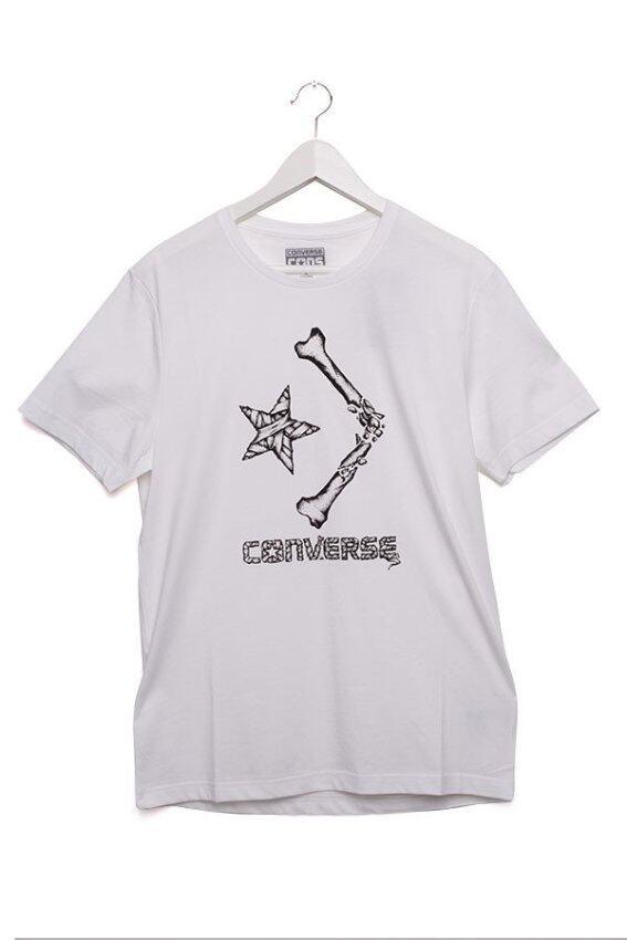 Converse เสื้อยืดคอกลมผู้ชาย Bad Newa Tee Men รุ่น 12-31362 (White) image