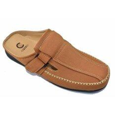 Csb รองเท้าหนังแบบสวมเปิดส้น ผู้ชาย Csb รุ่น Cm435 (สีแทน) ราคา 479 บาท(-52%)