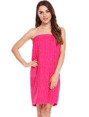 Cyber Sales Women Spa Wrap Towel With Fastening Tape Closure( Rose ) - Intl ราคา 532 บาท(-33%)