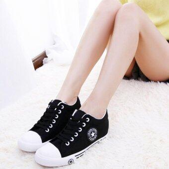ESTHER รองเท้าผ้าใบแฟชั่นผู้หญิง รุ่น CM9107 - BLACK (สีดำ)