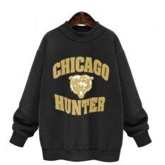 European Style Winter Womens Loose Large Size Long Sleeved Pullover Hoodie Black - Intl ราคา 875 บาท(-16%)