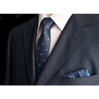 Everland เนคไท & ผ้าเช็ดหน้าสูท Necktie Pocket Handkerchief - รุ่น E301(not defined)
