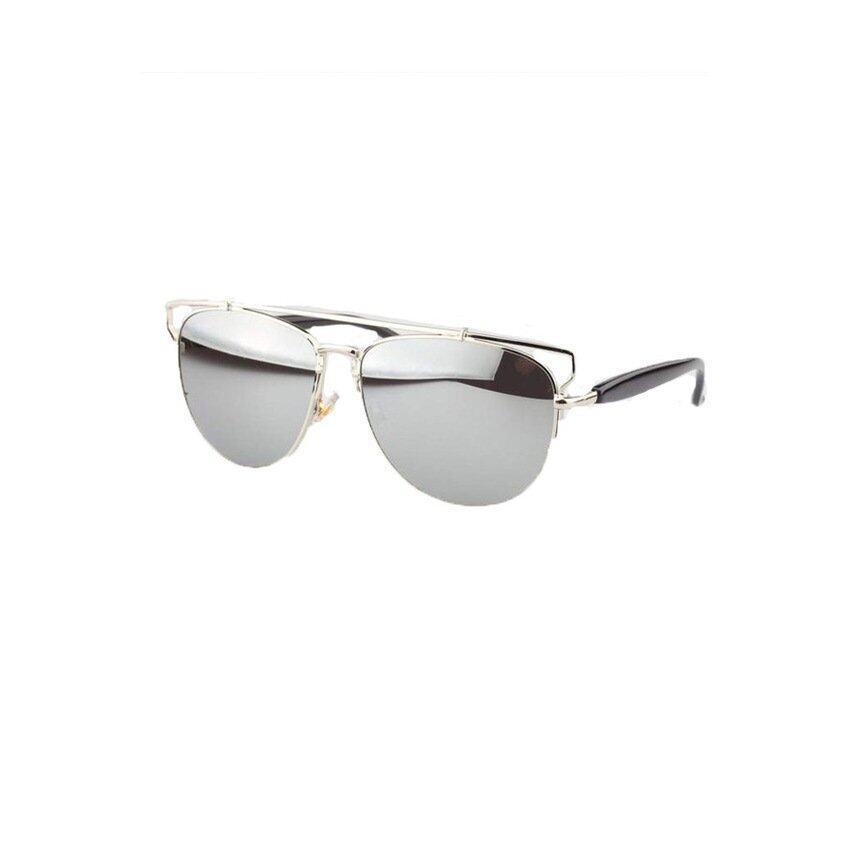 Fashion Classic Retro Men Women Unisex Vintage Stylesunglasses (Sliver). - intl ...