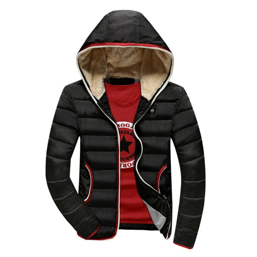 ราคาพิเศษ Fashion Men Down Cotton Thick Coat Hooded Coat Warm Jacket สำหรับคุณ