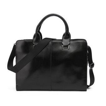 Fashion Men's Business Bag Briefcase Messenger Shoulder Bags Tote Bag Black - intl