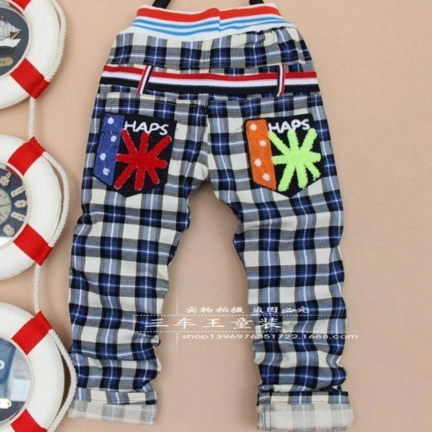 fashion spring children boys plaid cotton pants - intl ...