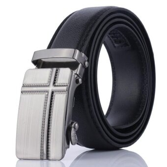 Fishion Men Belt automatic buckle strap male Pu leather belt jeansluxury design 2017 New - intl