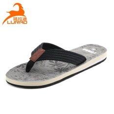 ยุโรปและอเมริกาในช่วงฤดูร้อนลื่นผู้ชายรองเท้าแตะพลิก Flops (สีเทา) ราคา 444 บาท(-32%)