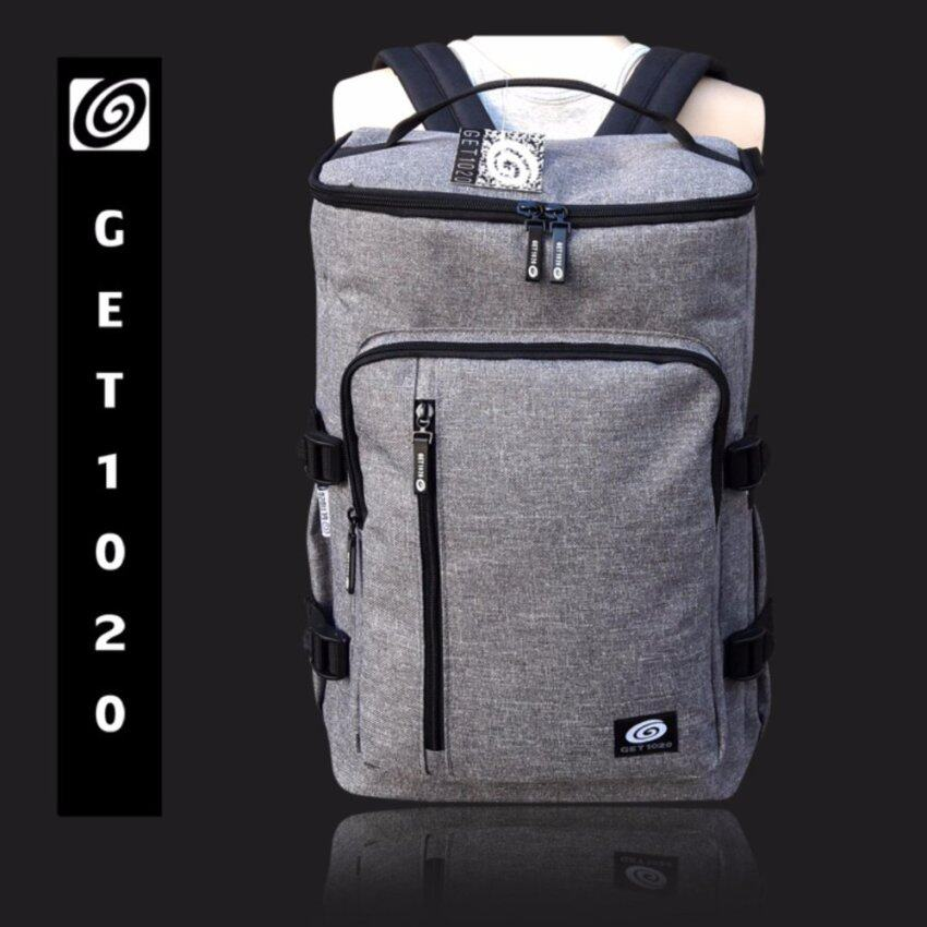 GET1020 กระเป๋าเป้ กระเป๋าสะพาย แฟชั่น VP674oxford (grey)