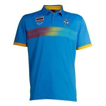 Grand sport เสื้อโปโล บีชเกมส์ (สีฟ้า)