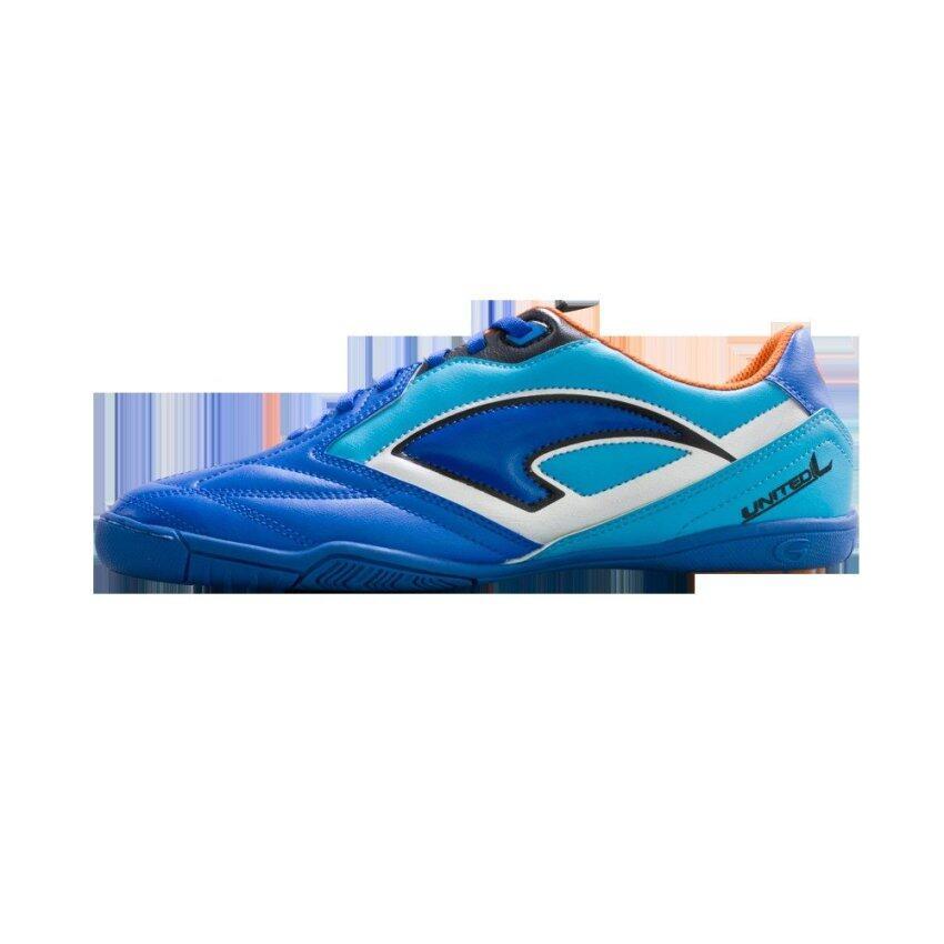 สุดยอด Grand sport รองเท้าฟุตซอลแกรนด์สปอร์ต รุ่น GRAND UNITED L (สีฟ้า) ซื้อเลย