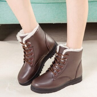 Hanyu Womens Snow Boots Martin Boots Outlets Waterproof Ladis Shoes(Black Size 35) - intl