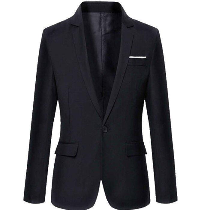 HappyU เสื้อสูทผู้ชายวัยรุ่น RR18 - Black