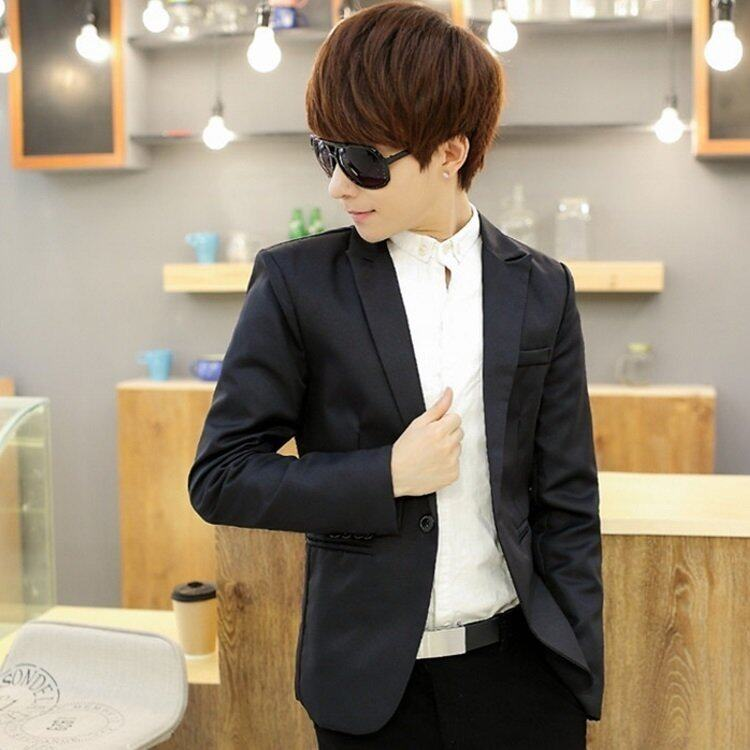 HappyU เสื้อสูทผู้ชายวัยรุ่น SU02 (Black)