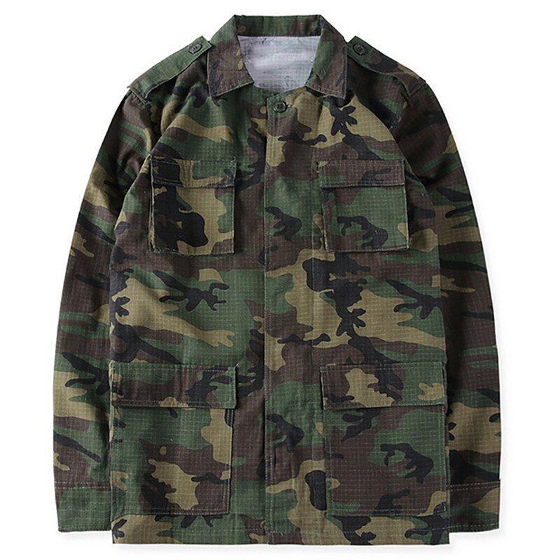 ราคาพิเศษ Hequ 2016 Autumn Yeezy Season 3 Kanye West Pablo Camouflage MenCoat Hiphop Paul Streetwear Jacket Yellow สำหรับคุณ