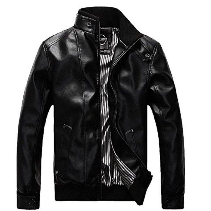 ราคาพิเศษ HighVoltage เสื้อแจ็คเก็ตหนัง Leather Jackets รุ่น LJ02 (BLack) สำหรับคุณ