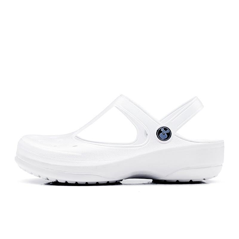 Hole Shoes Shoes Sandals Thick Summer Summer Mary Jane Beach Sandals White Nurses Shoes Large Size Cool Slippers(OVERSEAS) - intl