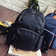 HPB กระเป๋าเป้ผู้หญิง ผ้า Nylon Oxford สะพายหลัง สีดำ