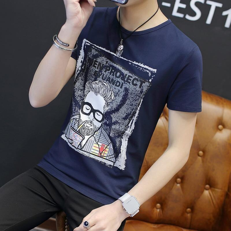 In the Spring of 2017 New Long Sleeved T-shirt Sweater Fashion Clothes Men Teenage Boys T-shirt Shirt Mens - intl