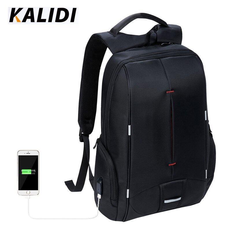 KALIDI 17 inch Waterproof Men Backpack USB Charging College Students Bag Laptop Backpack For 13.3 to 17.3 inch school bag - intl