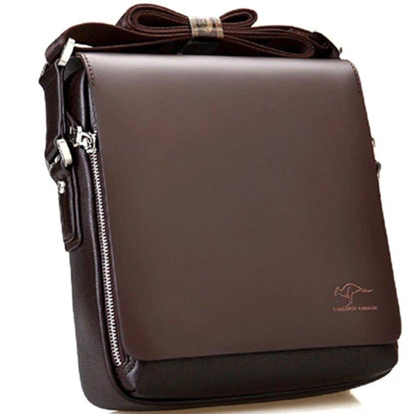 Kangaroo Kingdom Premium PU Leather Men Messenger Bag - Brown - intl. >>>>