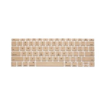 Keyboard Protective Film 13 Inch for Apple Mac-book Air / Mac-book Pro US Version (Gold)