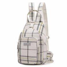 กระเป๋าเป้สะพายหลัง BB สีขาว