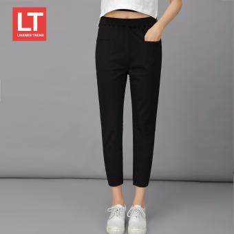 Likener Trend Elastic Waist Ankle-Length Woman Casual (Black) -intl