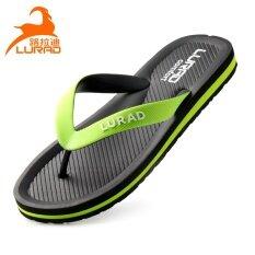 Luladi ฤดูร้อนชายรองเท้าแตะผู้ชาย Flip-Flop (สีดำ) ราคา 427 บาท(-55%)