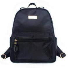 Mango TSAR Fashion Nylon ไนลอน Backpack กระเป๋าเป้สะพายหลัง - Black ดำ