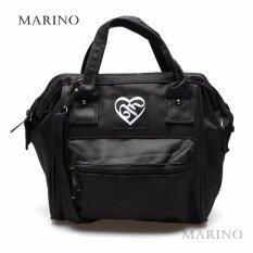Marino กระเป๋า กระเป๋าสะพายข้างสำหรับผู้หญิงสีดำล้วน ไว้อาลัย No.0215 - All Black