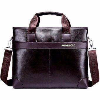 Matteo กระเป๋าโน้ตบุ๊ค ใส่เอกสาร รุ่น Polo 2096 - สีน้ำตาล