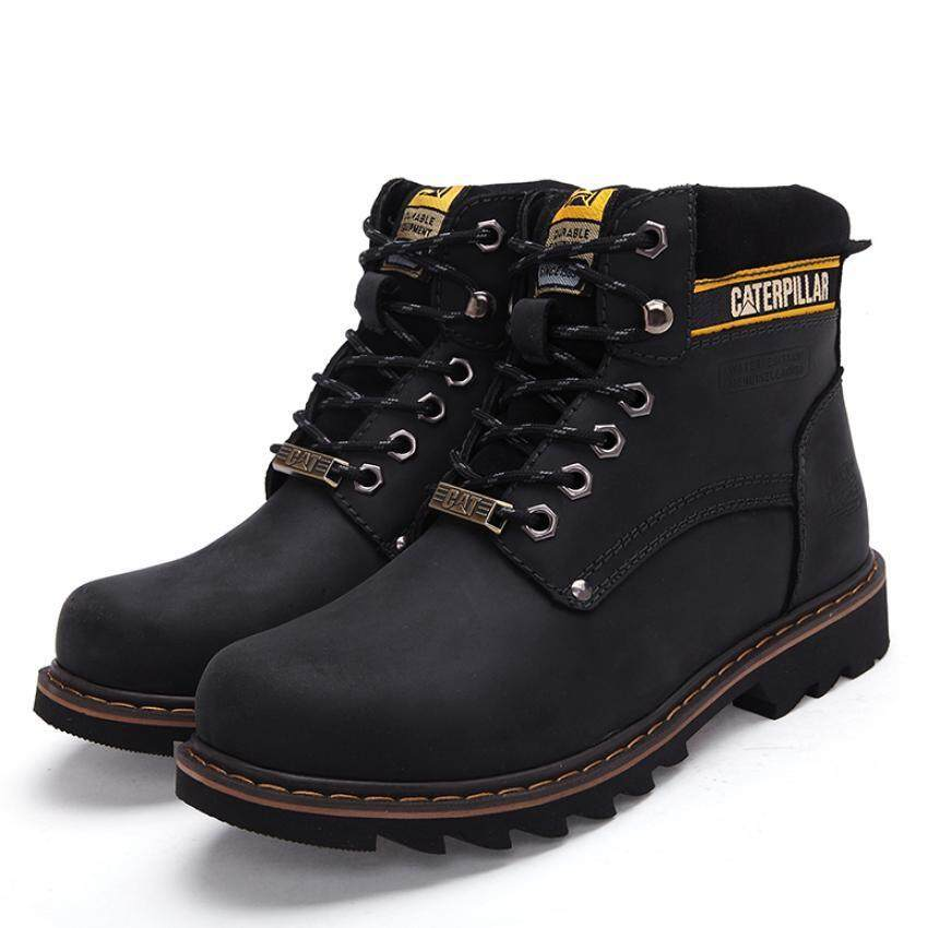 Men fashion high-heel boots fashion warm snow boots - intl ...