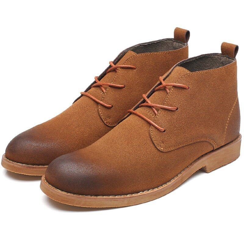Men fashion Martin boots Matte skin leather boots - intl ...