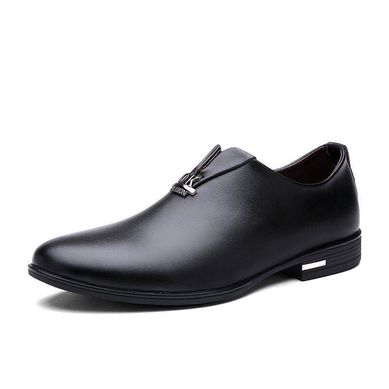 รีวิว Men Handcrafted Business Shoes (Black) – intl ข้อมูล